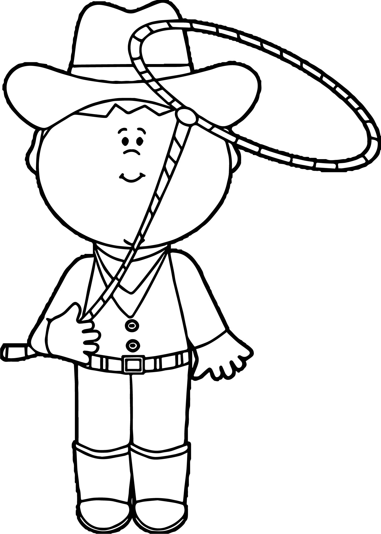 Cowboy turn rope coloring page for Turn an image into a coloring page