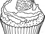 Cupcake Cup Cake Cherry Coloring Page