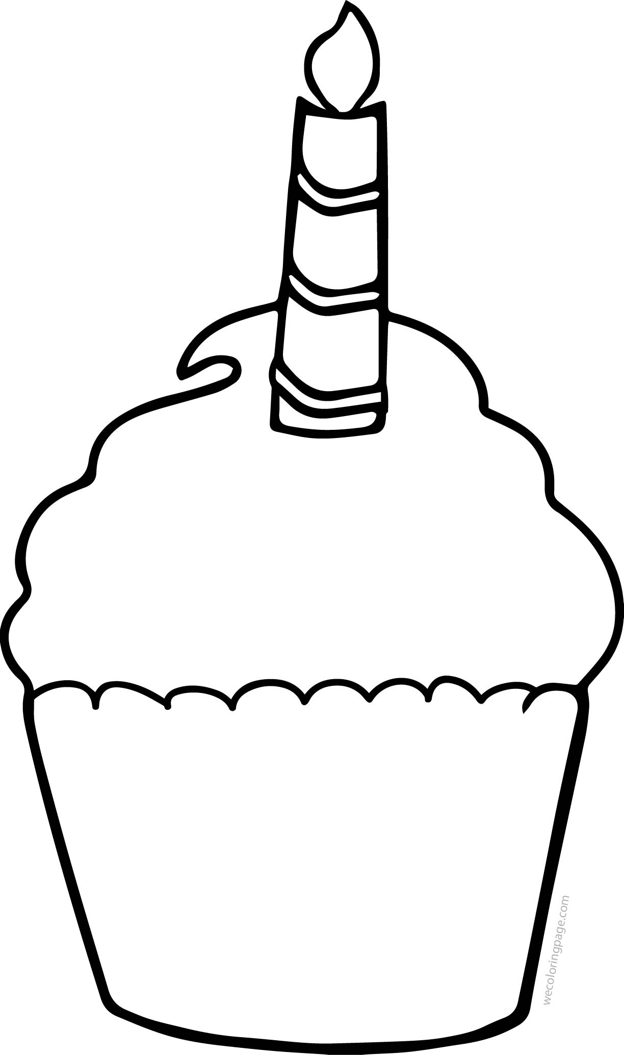 Cupcake Cup Cake Coloring Pages