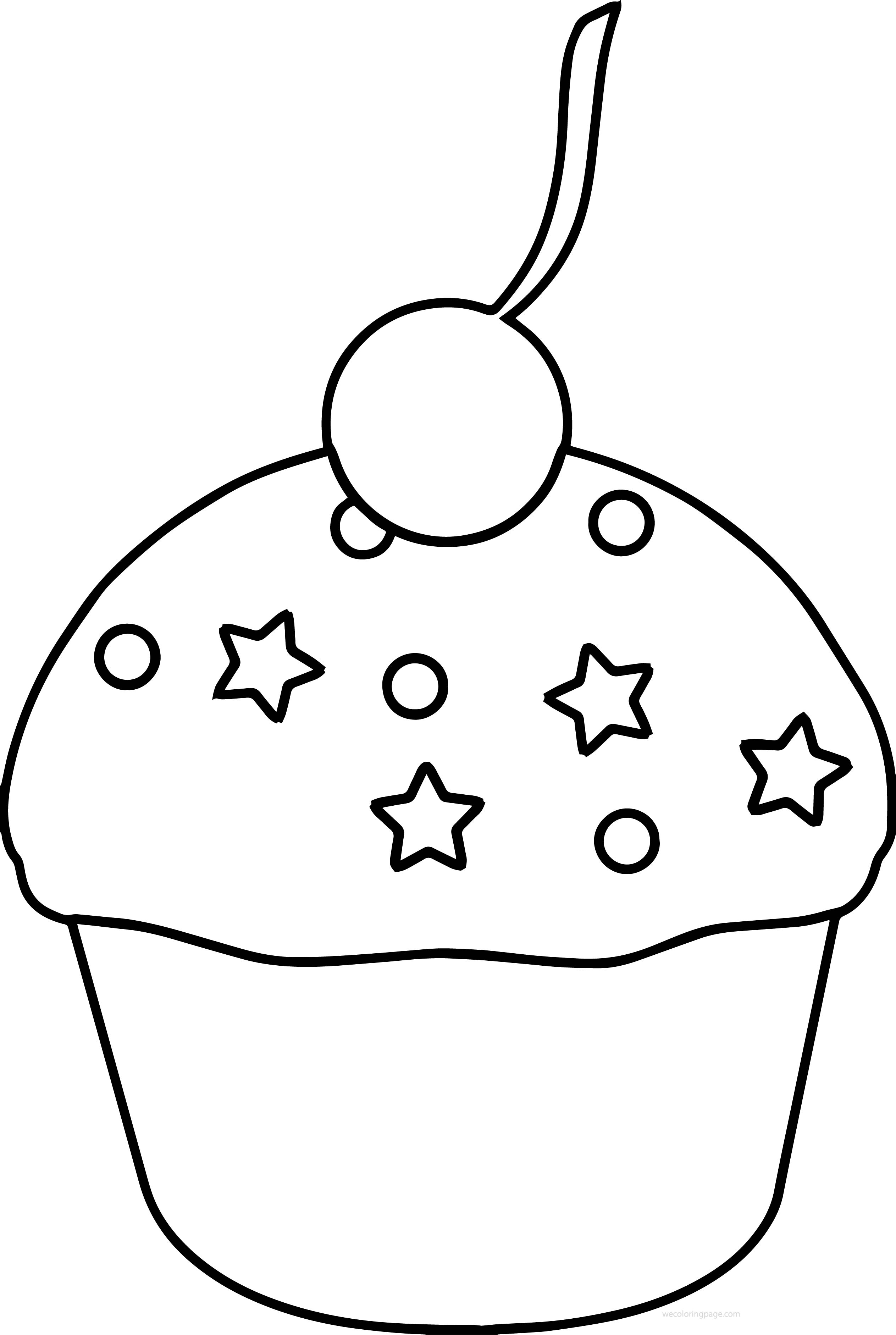 Sprinkles coloring pages ~ Cupcake Strawberry Sprinkles Cherry Coloring Page ...