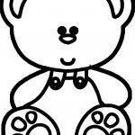 Cute Big Head Bear Coloring Page