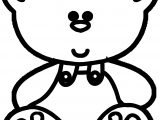 Cute Big Head Bear Coloring Page