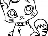 Cute Cartoon Cat Coloring Page