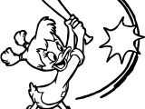 Darkwing Duck Kiki Kick Baseball Coloring Page