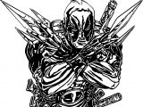 Deadpool Blade Coloring Page