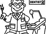 Dental Dentist Doctor Man Coloring Page