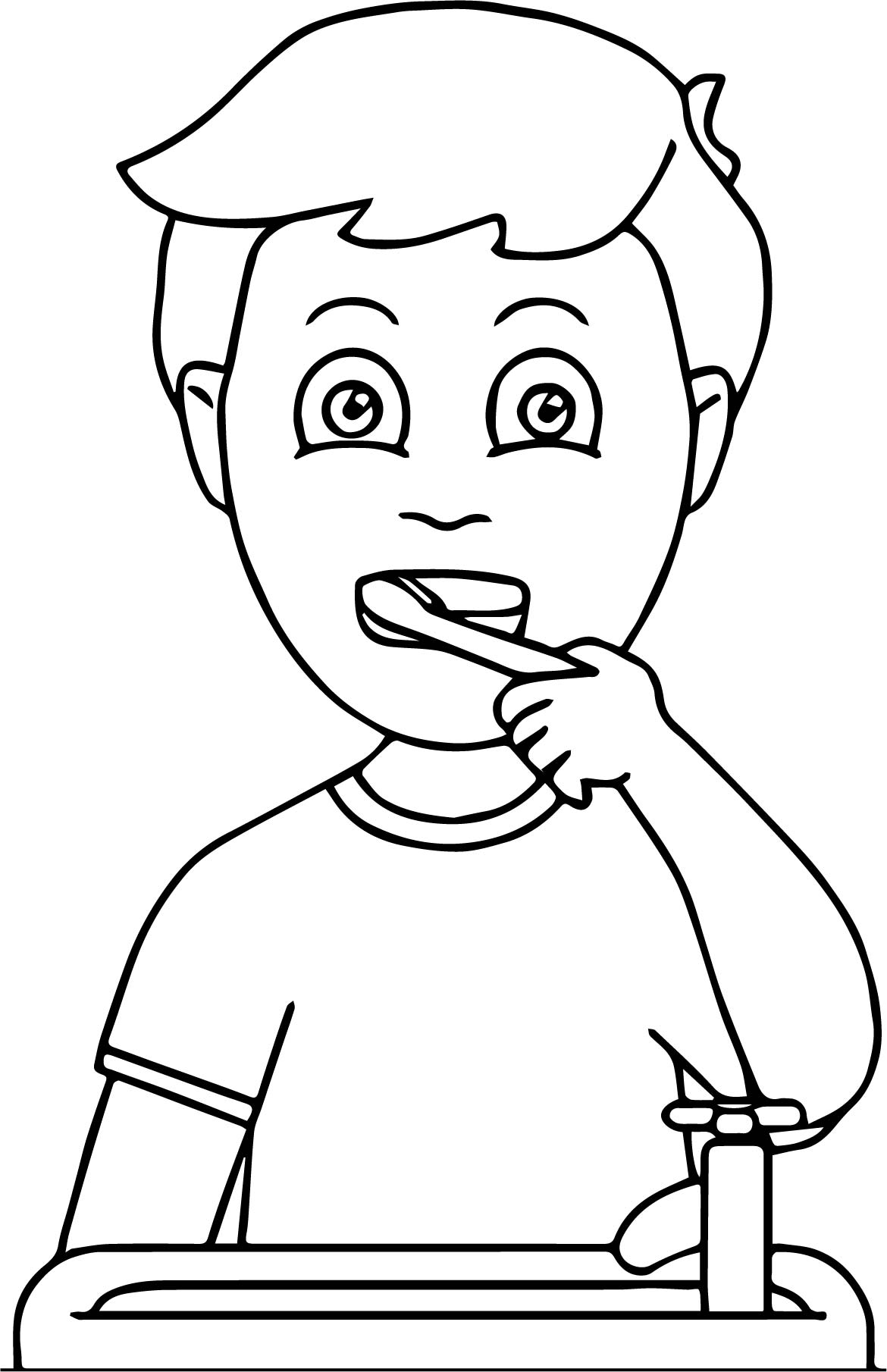 tooth brushing coloring pages | Dental Kids How Doing Tooth Brush Coloring Page ...