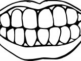 Dental My Teeth Coloring Page