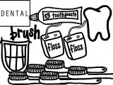 Dental Set Coloring Page
