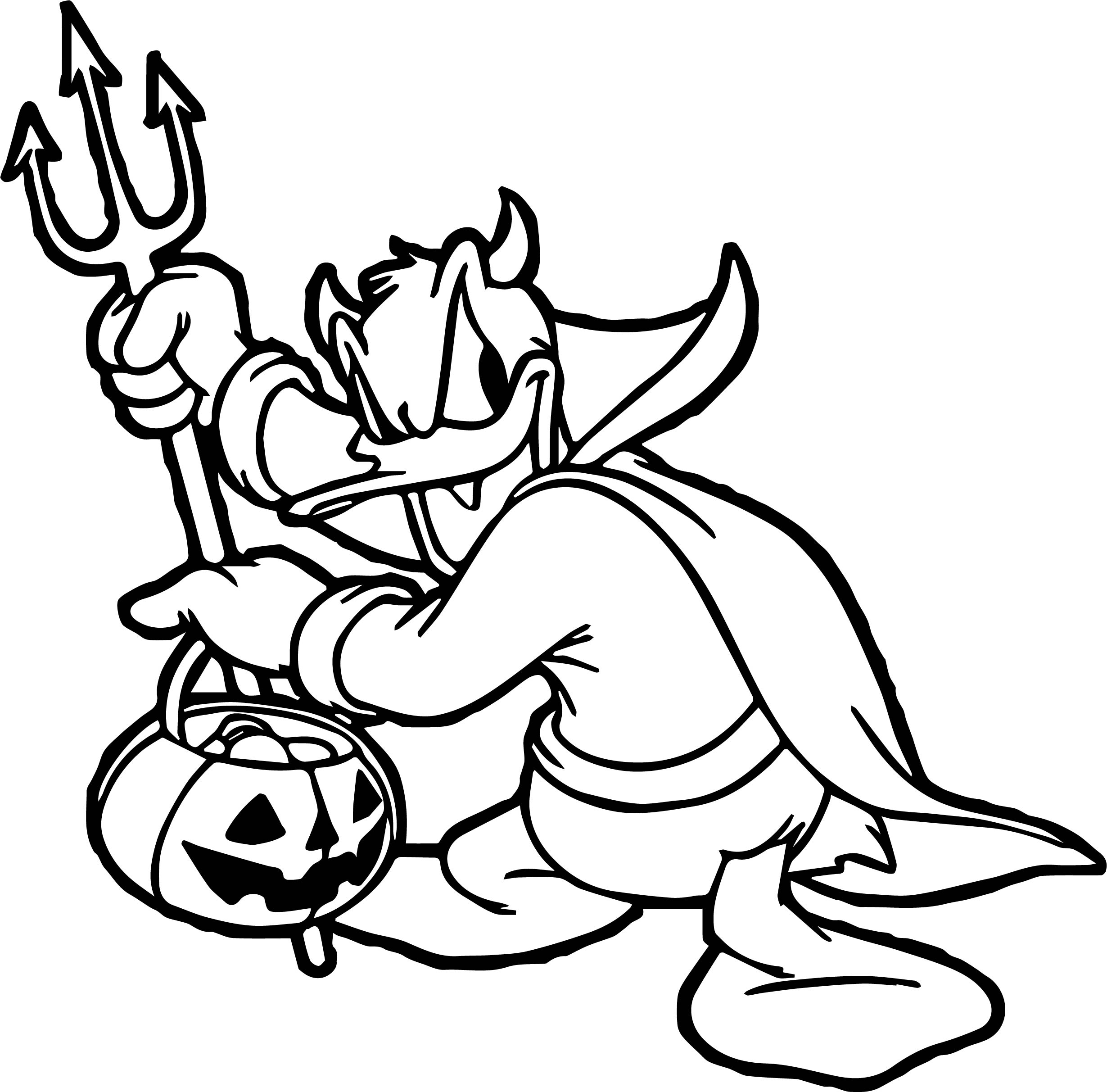 Devil donald duck coloring page for Devil coloring pages