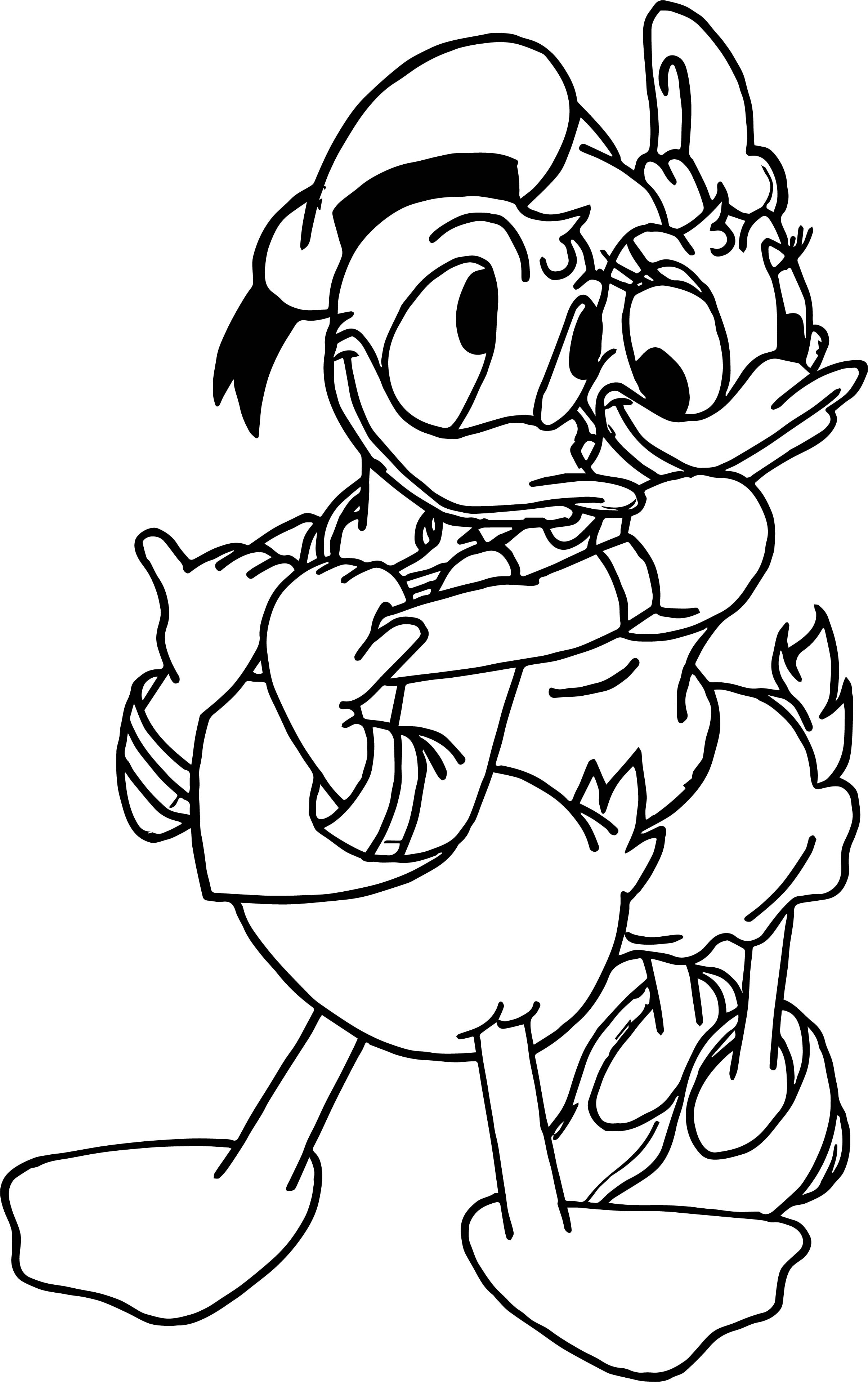 Disney Donald Duck And Daisy Duck Murals For Baby Bedroom Decoration Ideas Coloring Page
