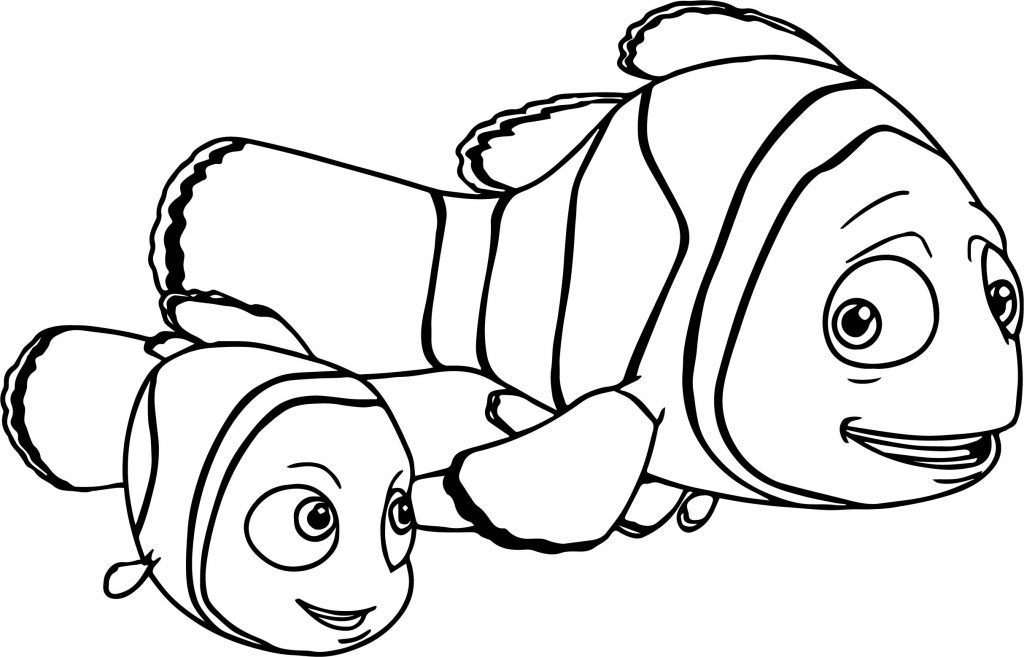 Marlin Is Finding Nemo Coloring Page Free Printable - 1024×657
