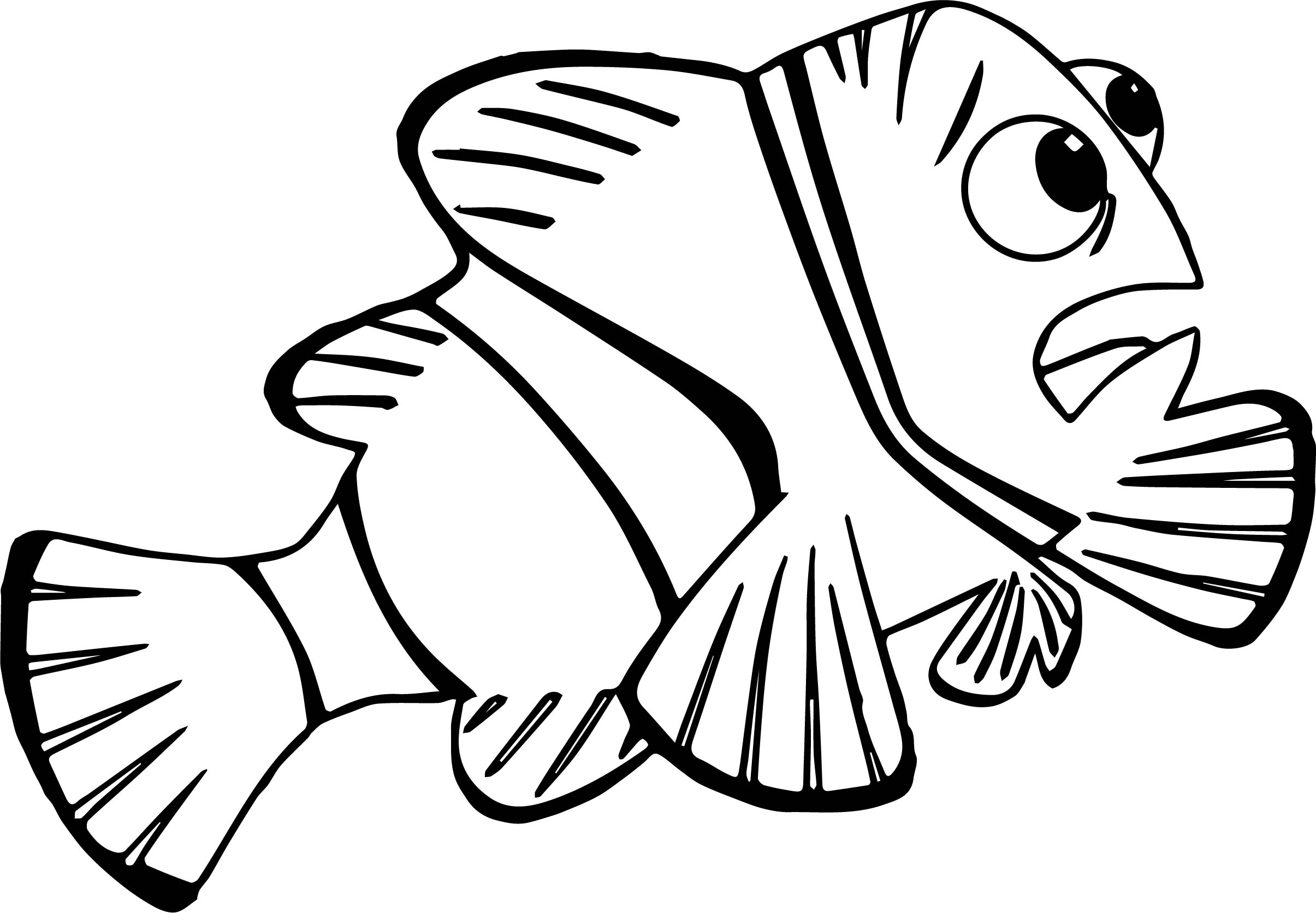 Disney Finding Nemo Marvin Coloring Pages