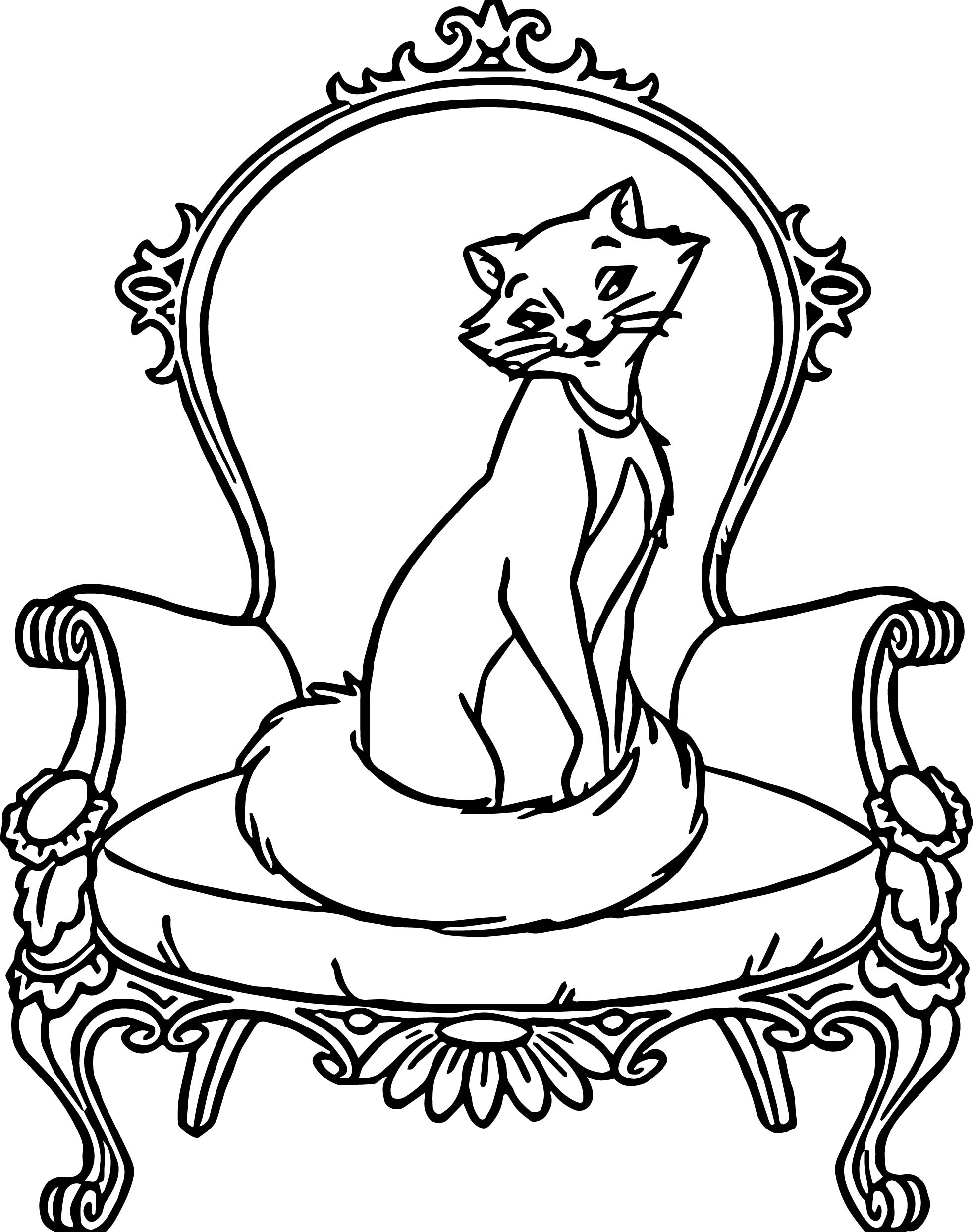 Disney The Aristocats Chair Coloring Page