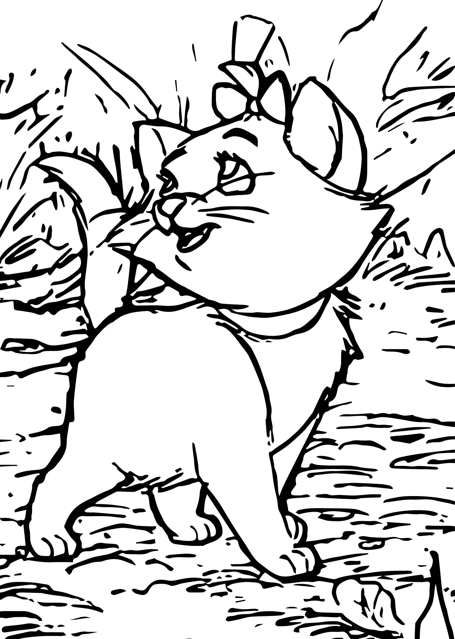 Disney The Aristocats Forest Walking Coloring Pages