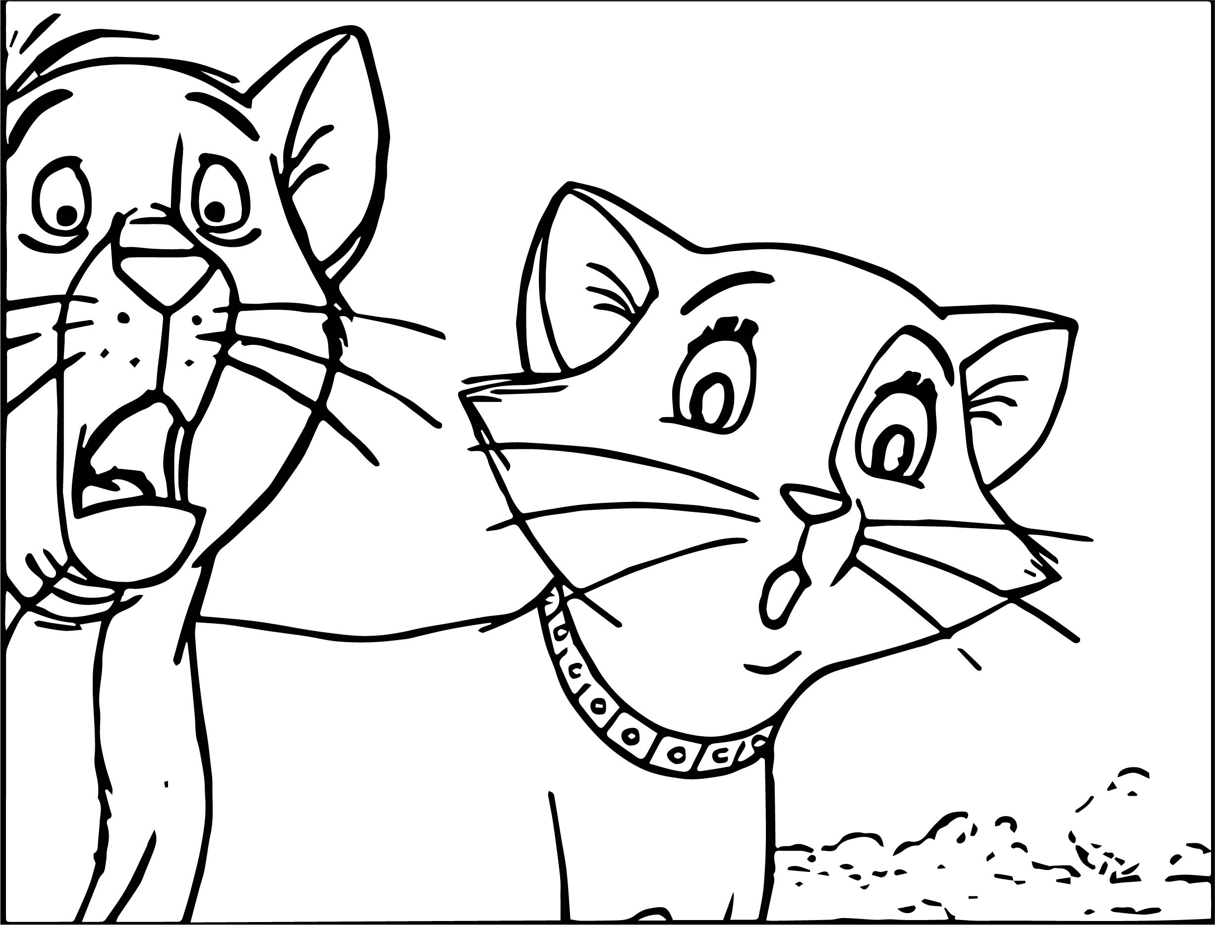 Disney The Aristocats Shocked Coloring Page
