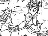 Disney The Aristocats Woman And Horse Coloring Page