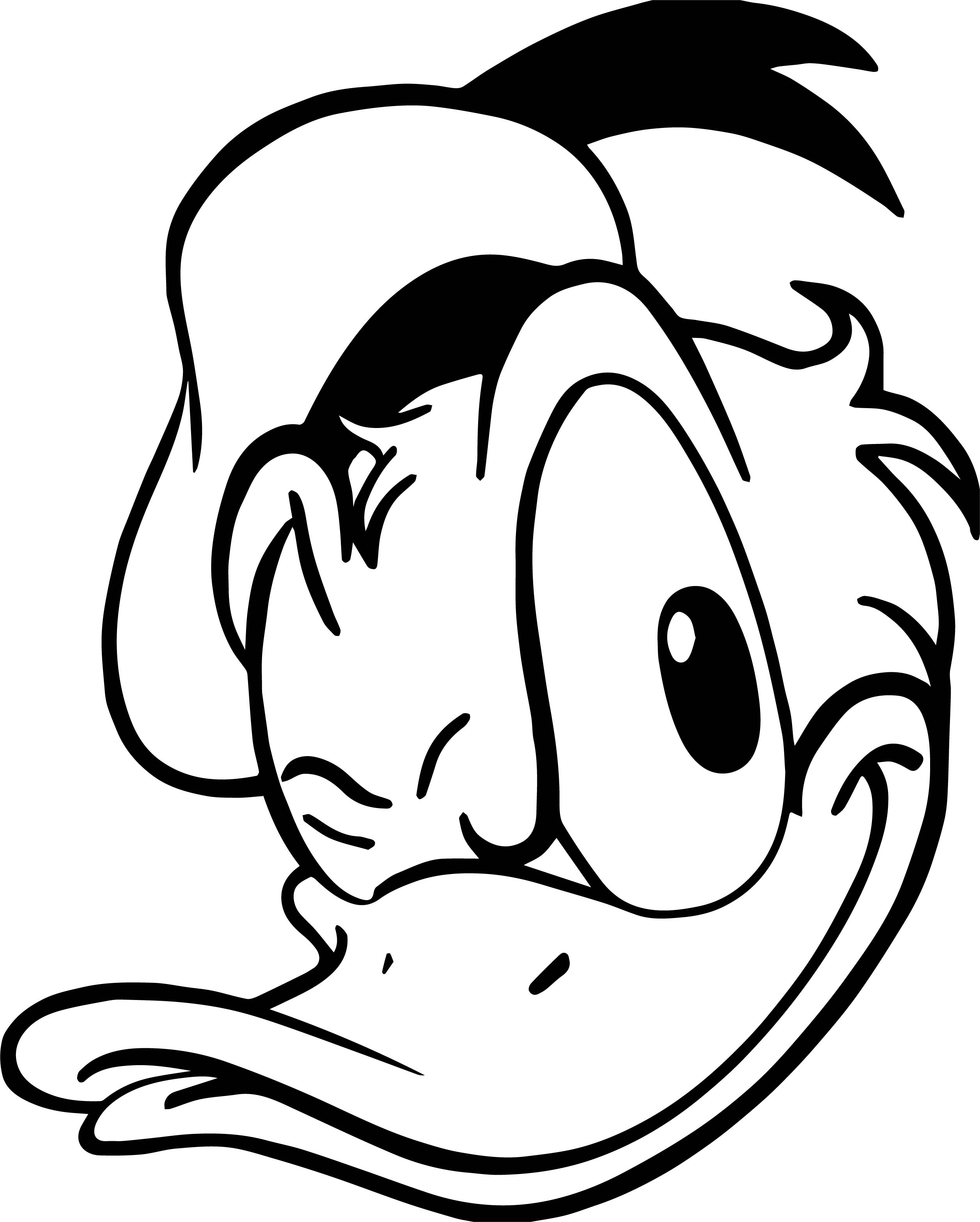 Donald Duck Face Wink Coloring Page