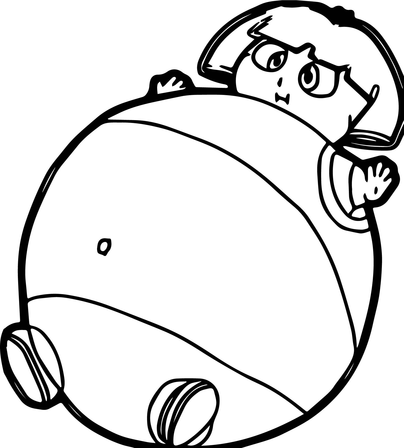 Dora The Balloon Explorer Fat Coloring Page