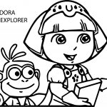 Dora The Explorer And Monkey Coloring Page