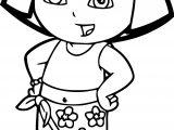 Dora The Explorer Beach Coloring Page