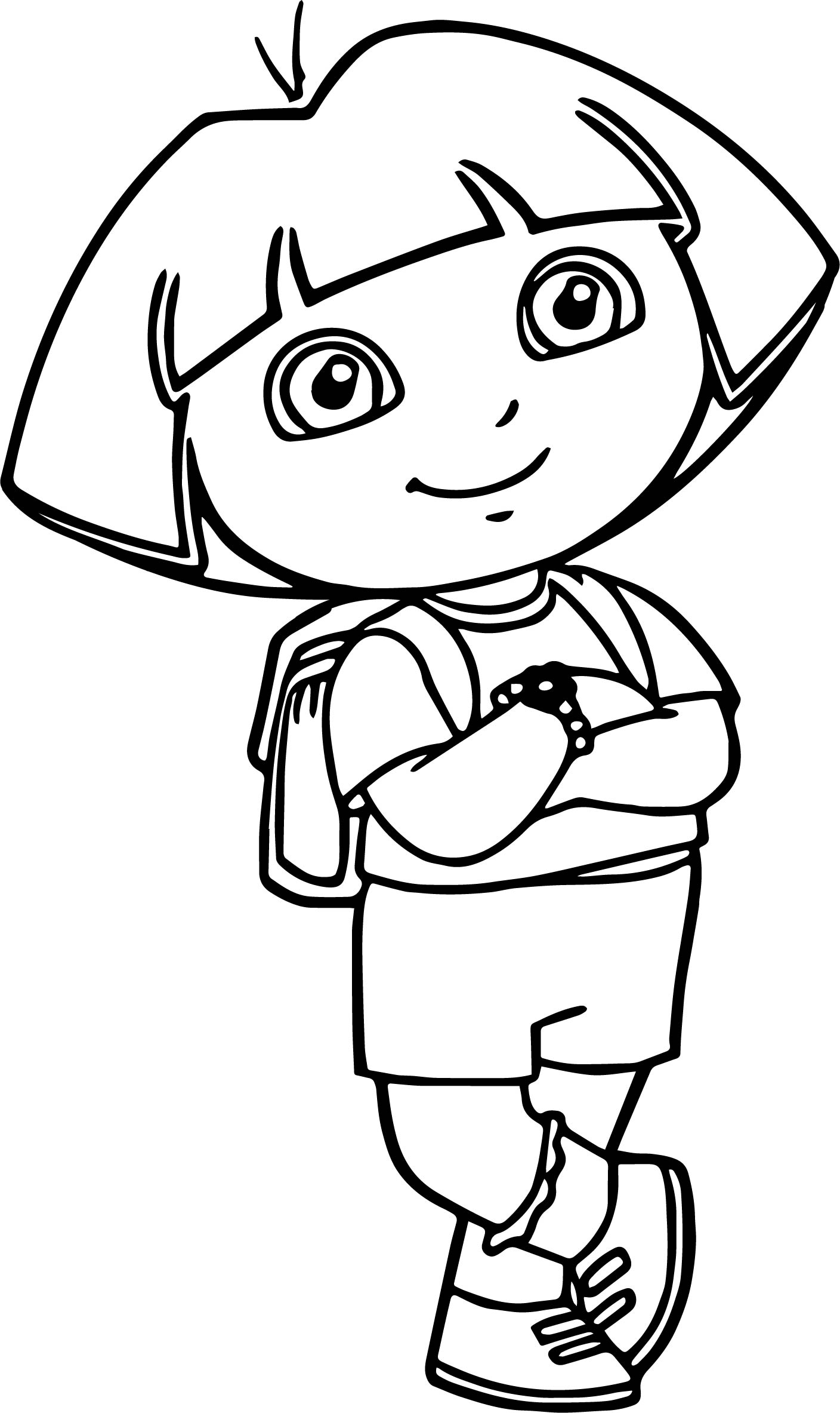 Dora The Explorer Calm Coloring Page