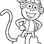 Dora The Explorer Cartoon Monkey Coloring Page