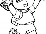 Dora The Explorer Enjoy Coloring Page