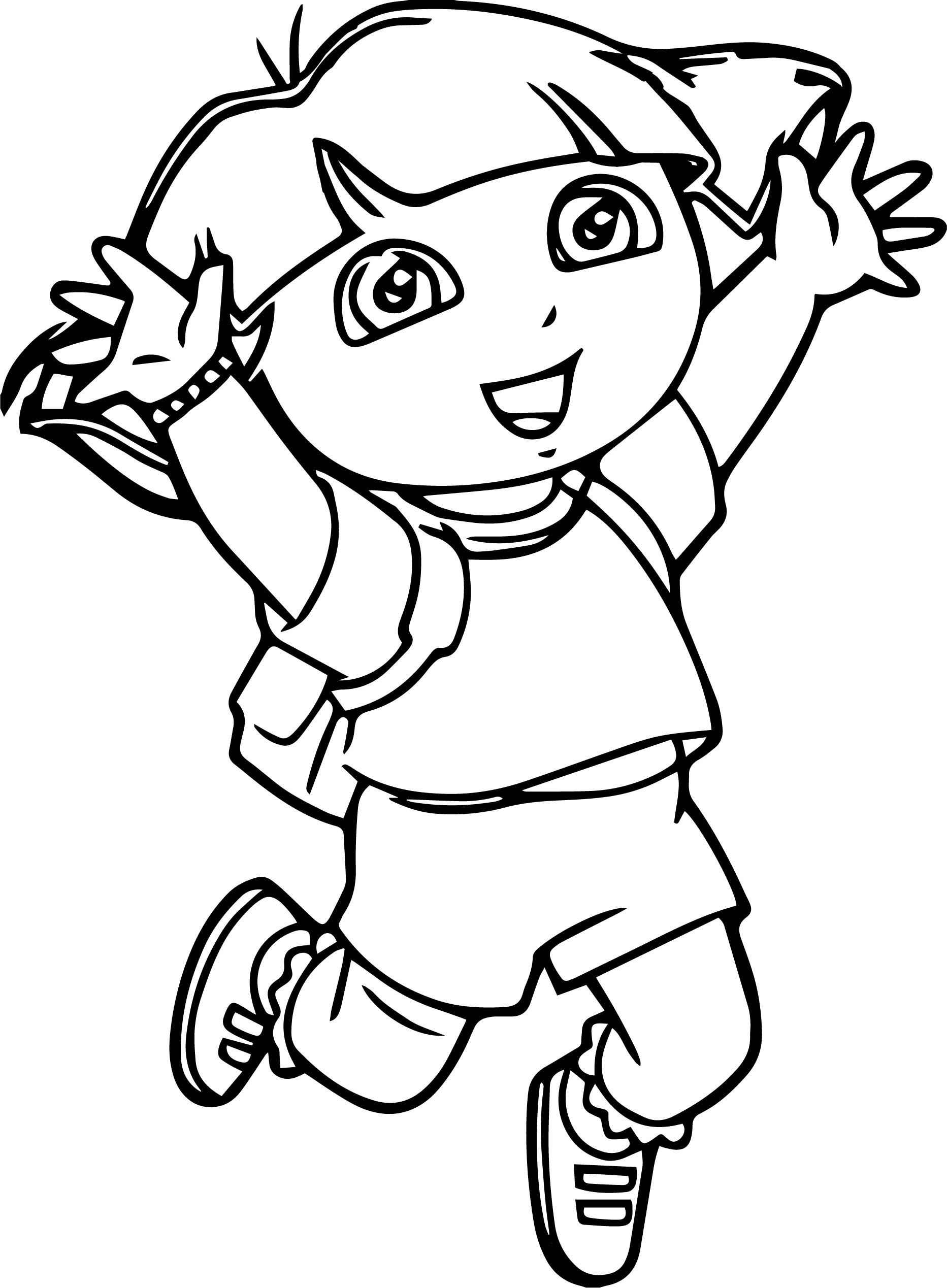 Dora Beach Pages Coloring Pages