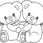 Double Bear Coloring Page