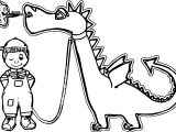 Dragon And Boy Coloring Page