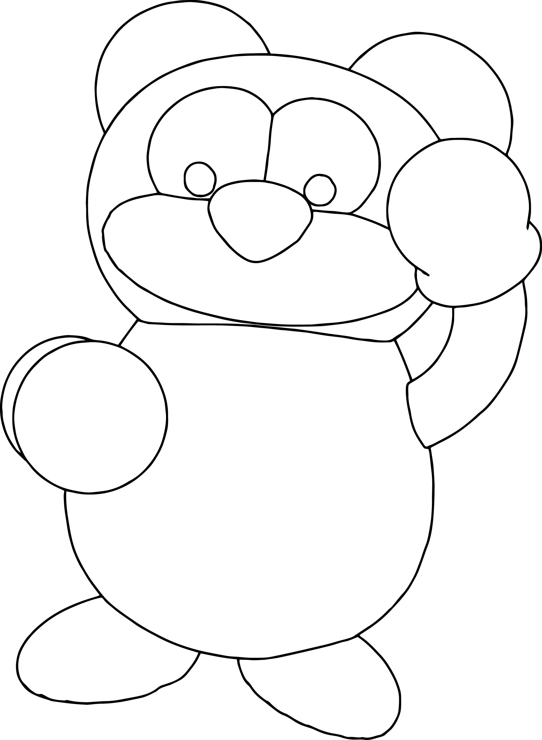 Dragon Boxer Bear Coloring Page