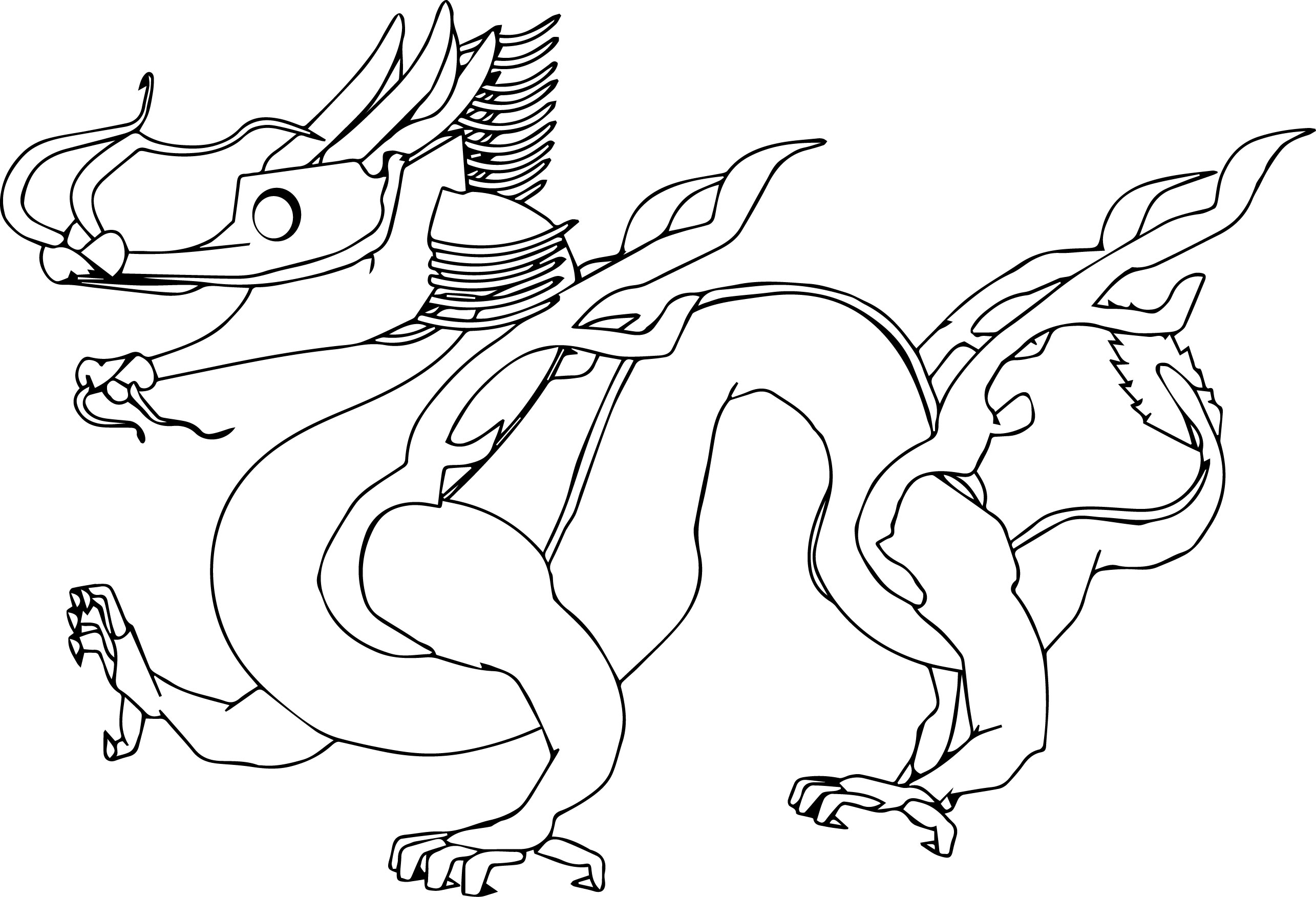 Dragon Realistic Other Coloring Page | Wecoloringpage.com