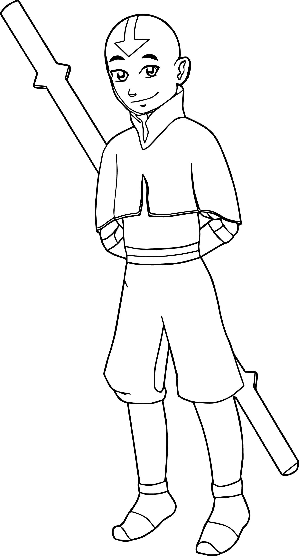 Drawing Of Aang Avatar Aang Coloring Page