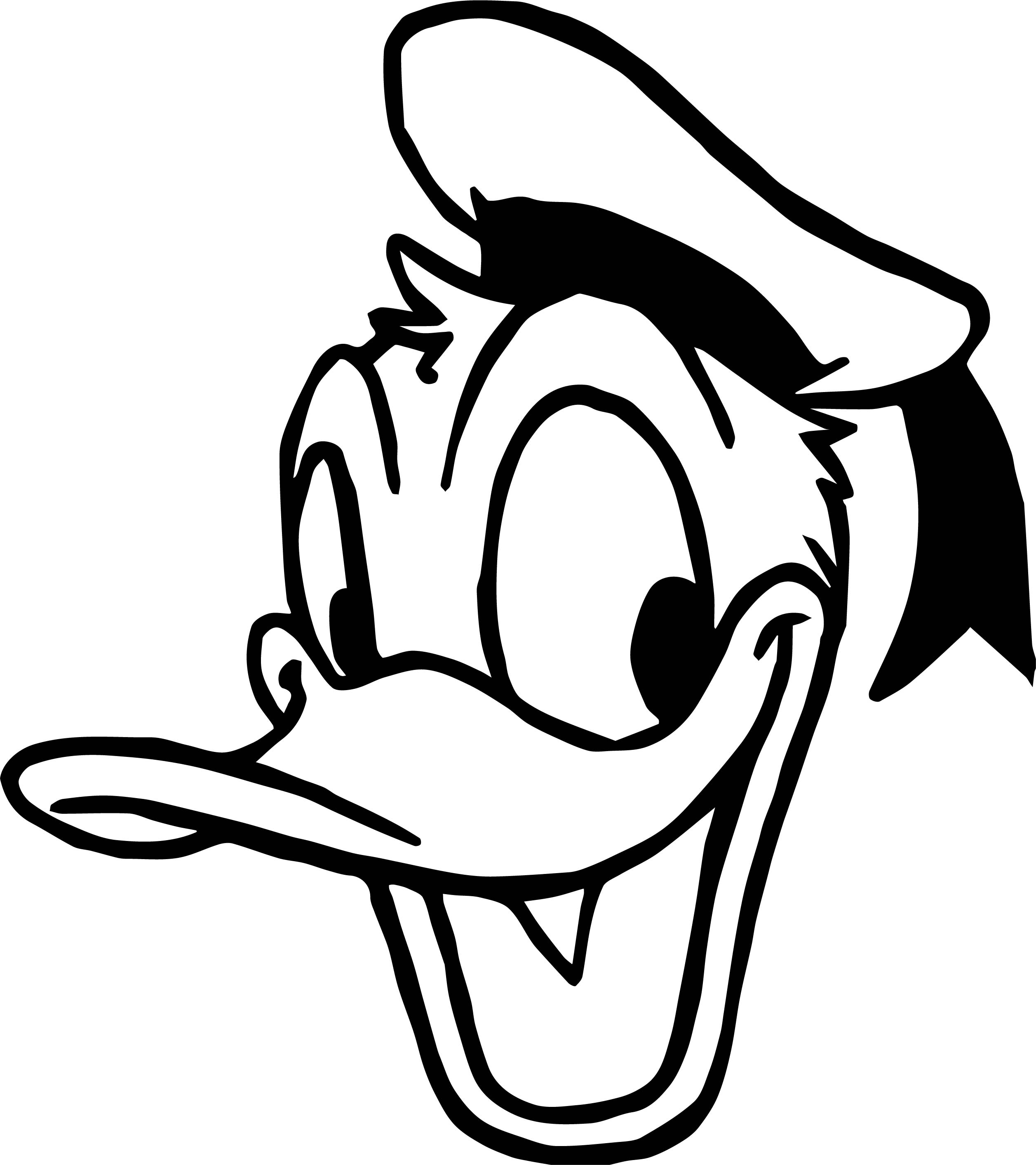 Duck Face Donald Coloring Page