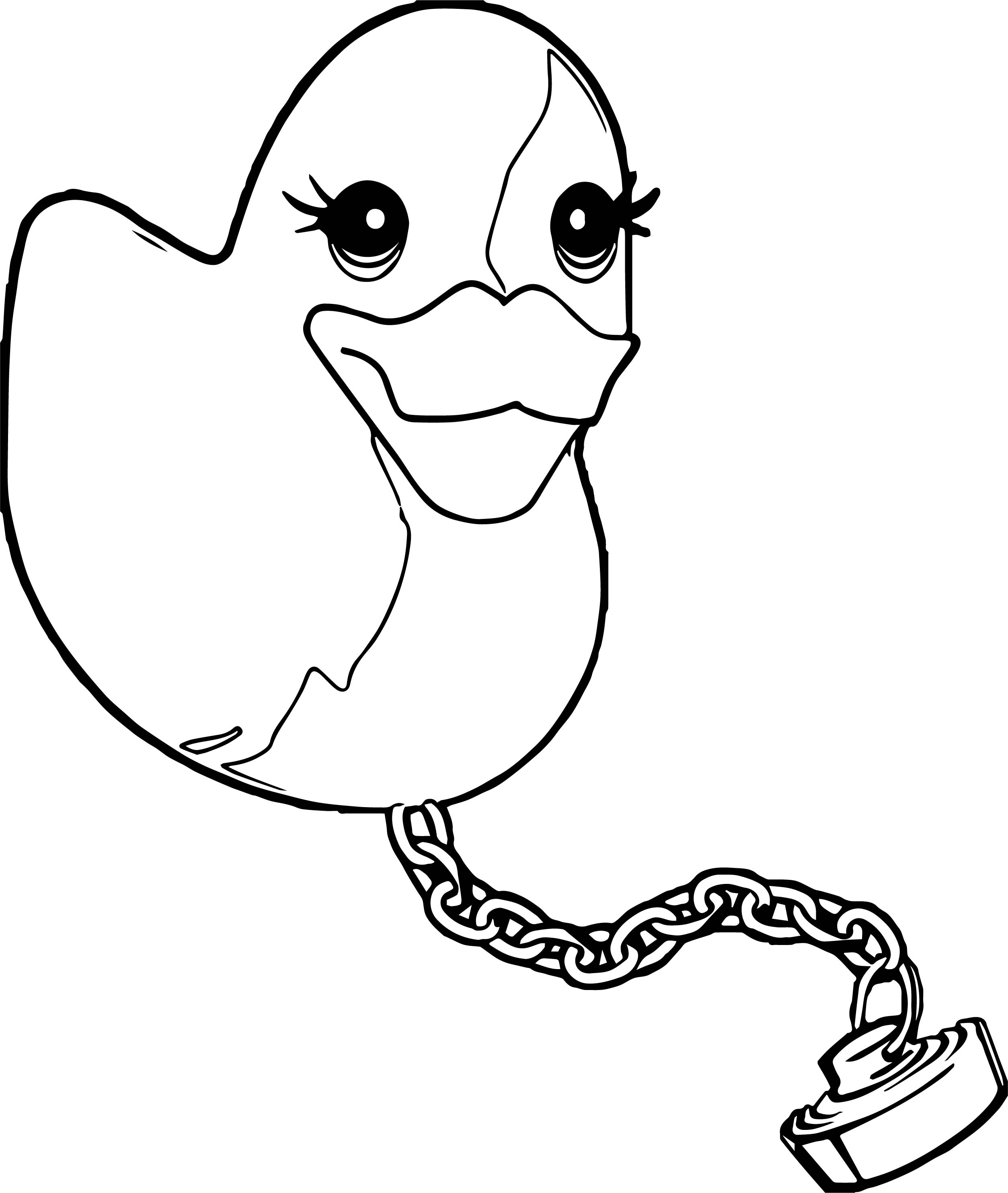 Duck Shower Coloring Page