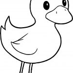 Duck Standing Coloring Page