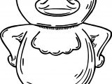 Duck Talking Front View Coloring Page