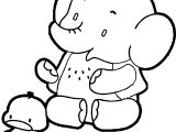 Elephant And Duck Coloring Page