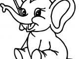 Elephant Cartoon Coloring Page