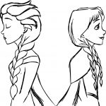 Elsa And Anna Frozen Sketch Coloring Page