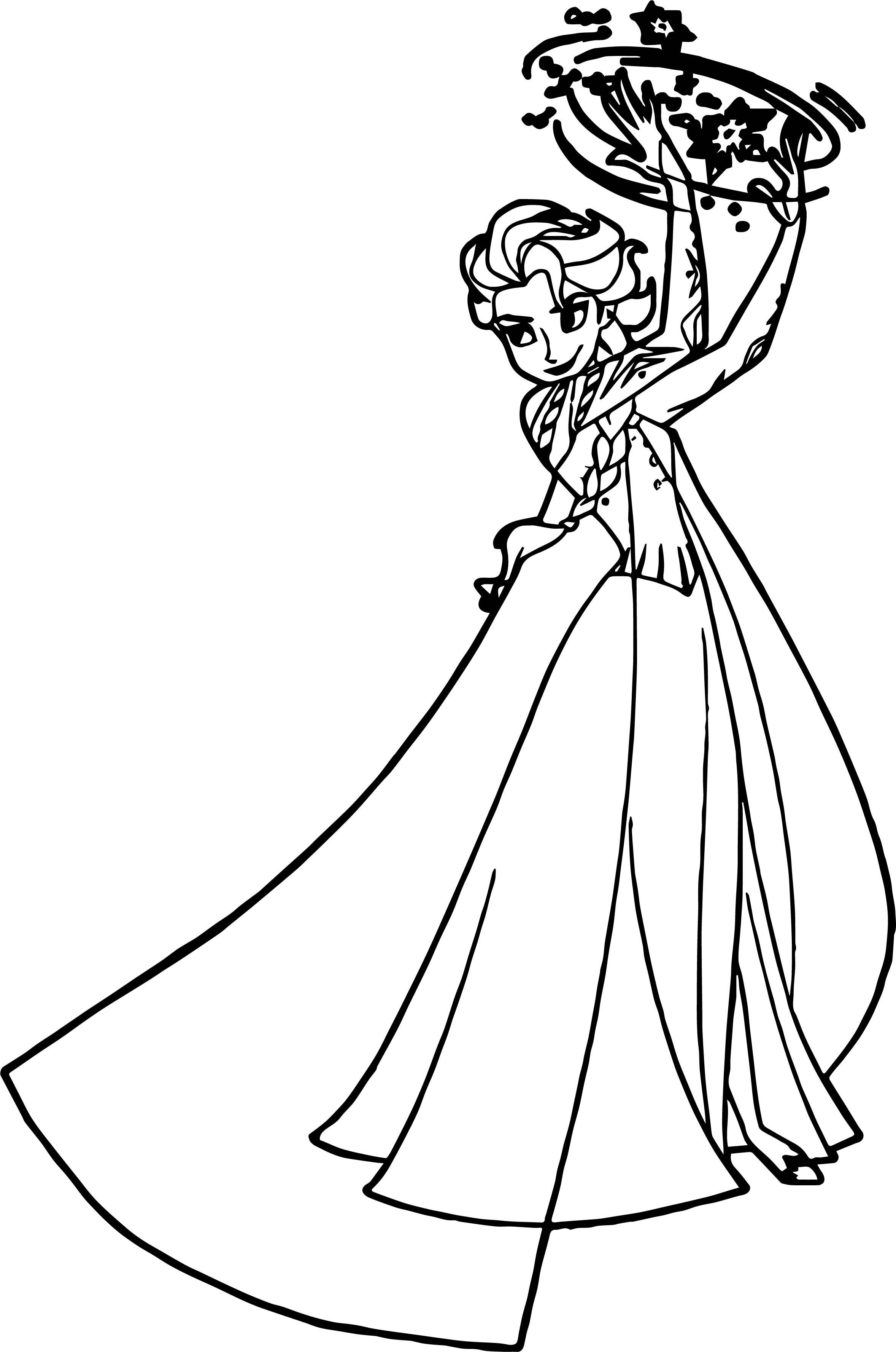 Elsa Magic Time Coloring Page