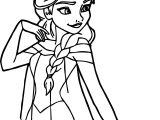 Elsa Pose Coloring Page