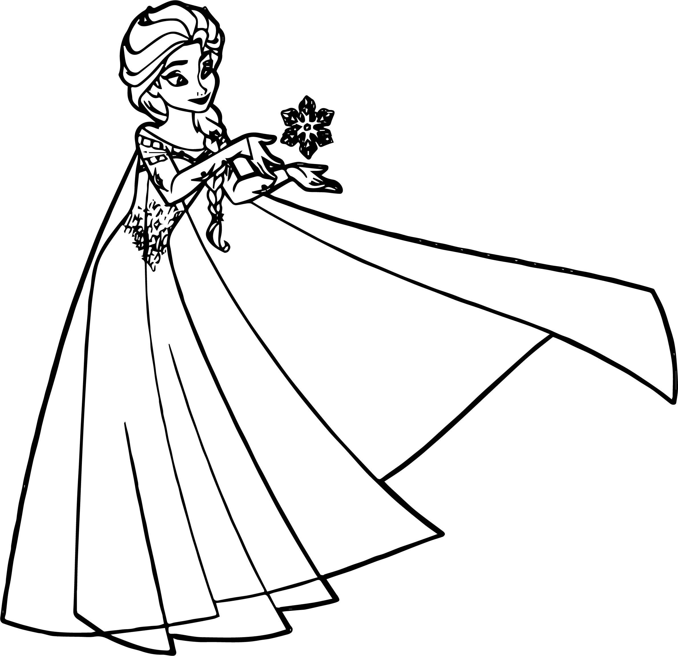 Elsa Snow Coloring Page