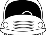 Empty Car Coloring Page