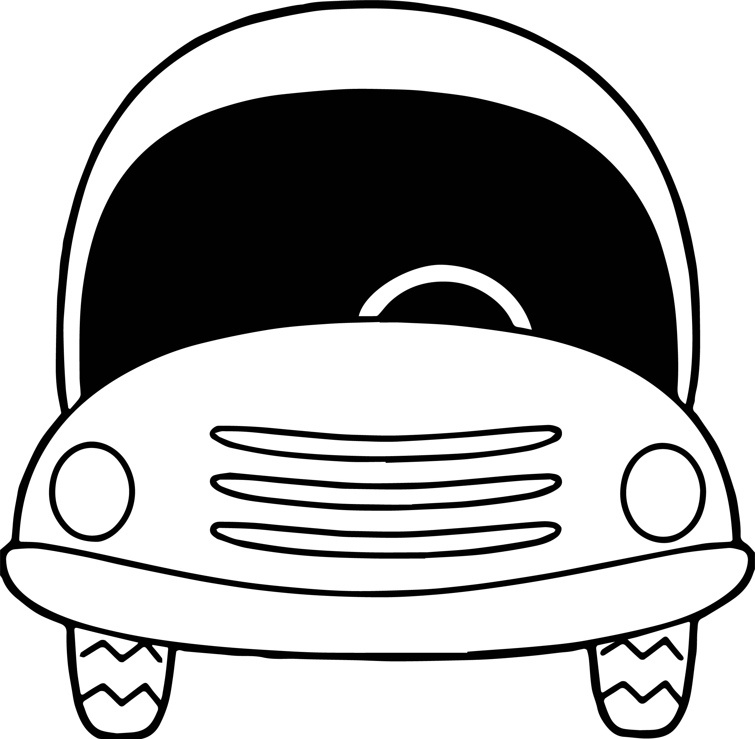 Empty Car Coloring Page