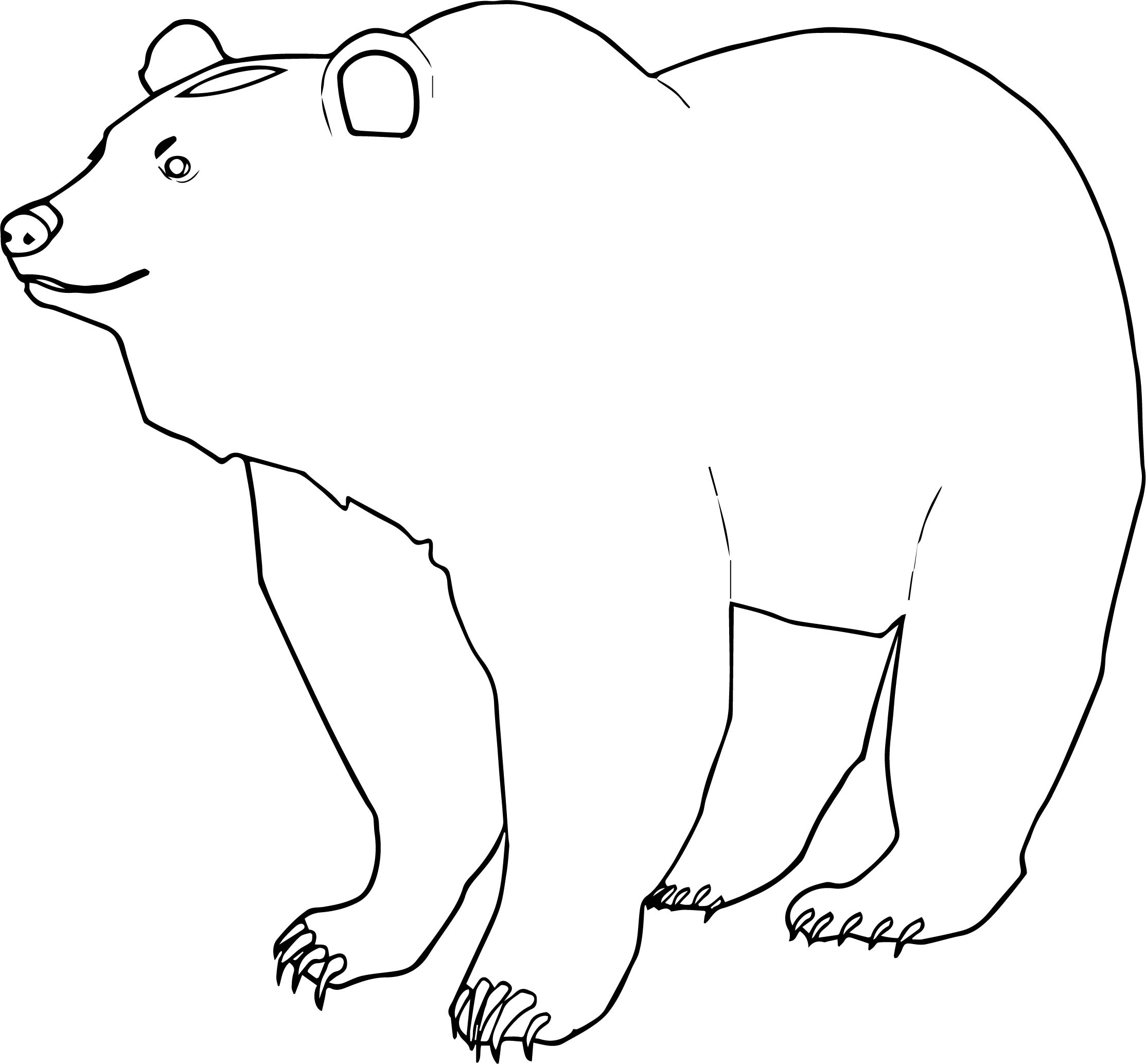 End Bear Coloring Page