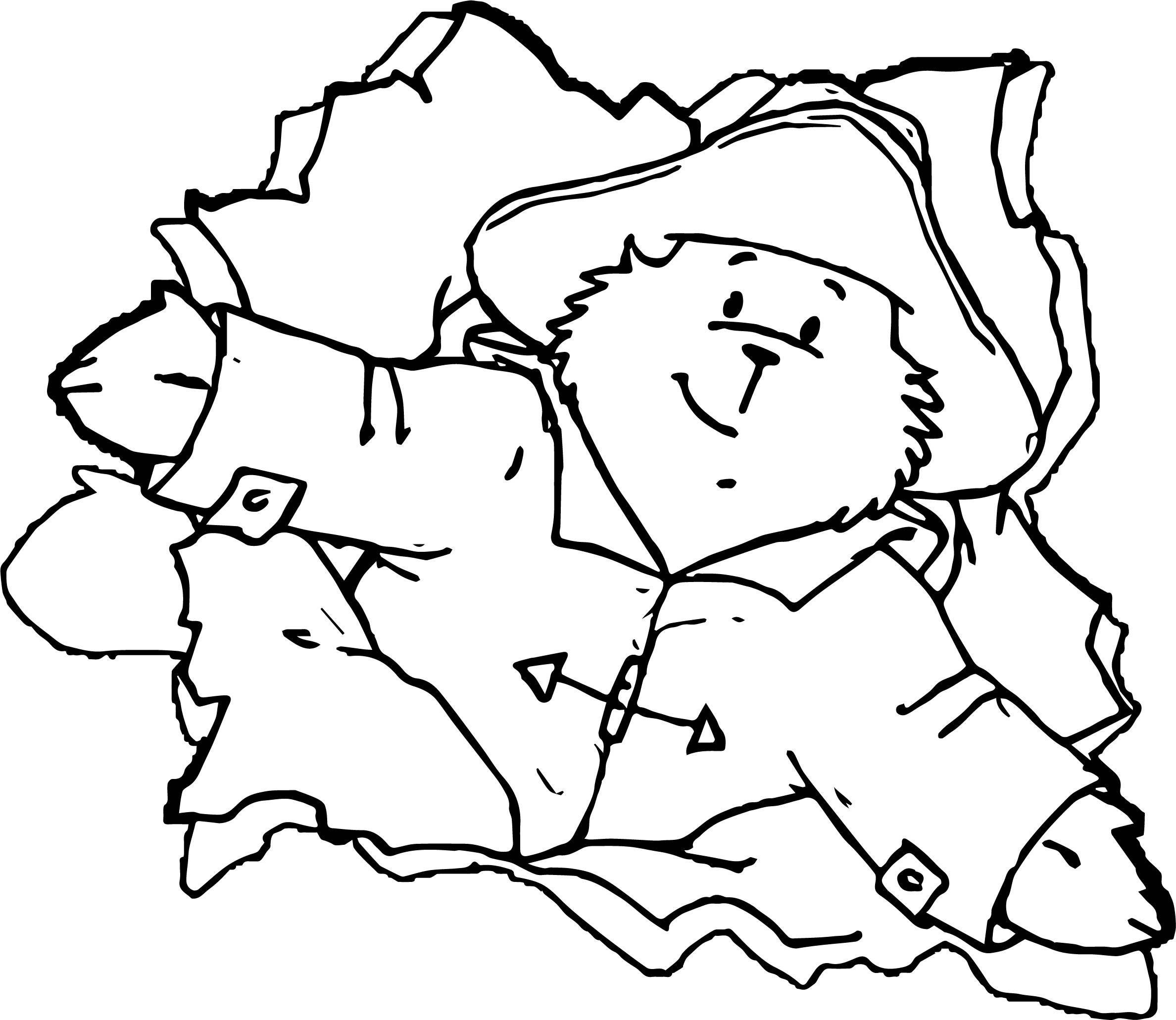 Even Bear Coloring Page