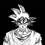 Face Goku Black Background Coloring Page