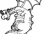 Fat Cartoon Dragon Coloring Page